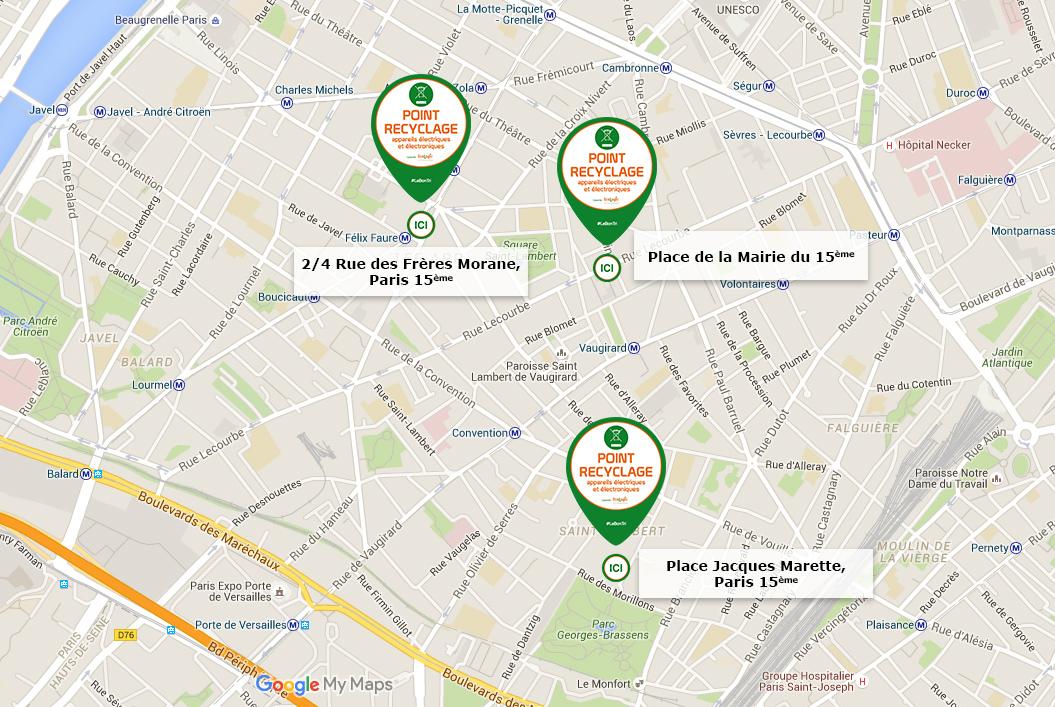 Samedi 30 janvier trois points de collecte de proximit paris 15e - Encombrants paris 15 ...