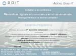Le green IT vous intéresse ? : inscrivez-vous à la matinée thématique organisée par l'AGIT