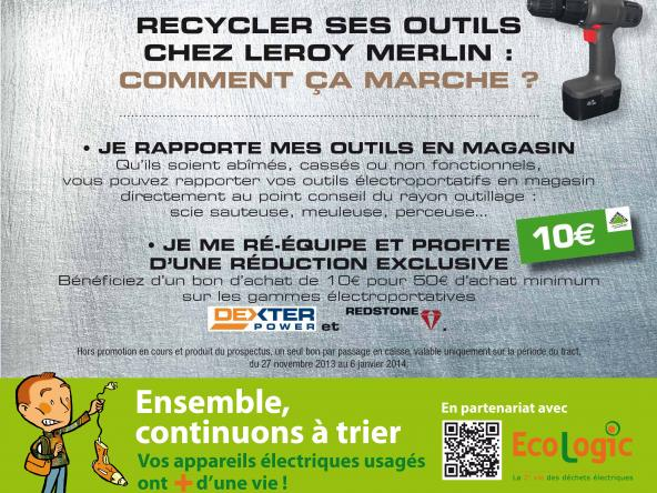 Recyclage Des Deee électroportatifs Chez Leroy Merlin